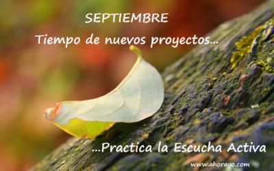 """Objetivo Mindfulness: En Septiembre """"LA ESCUCHA"""""""