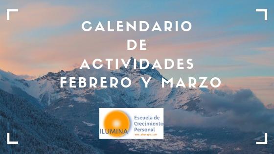 Calendario de actividades Febrero y Marzo