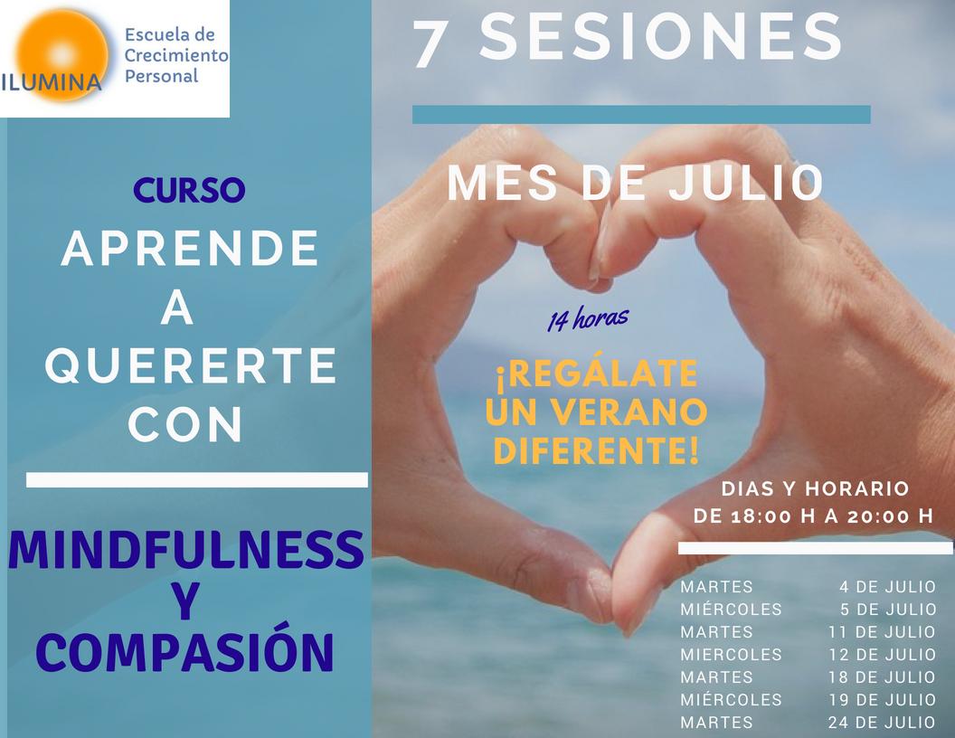 En Julio «Aprende a Quererte con Mindfulness y Compasión»