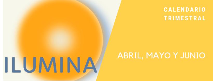 Calendario visual del trimestre de actividades, cursos y talleres en Ilumina
